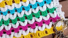 to view English subtitles please hit CC link Puff Stitch Crochet, Easy Crochet Blanket, Cable Knitting, V Stitch, Round Bag, Crochet Round, Learn To Crochet, Butterfly, Youtube