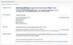 WordPress SEO plugin - snippet preview