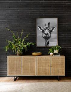 Mango wood and cane buffet — Joelle Magazine Shop Decor, Sideboards For Sale, Cheap Home Decor, Home Decor, Modern Sideboard, Mango Wood, Inspiration, Lighted Cane, Coastal Style