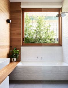 The Design Files – Rammed Earth Meets California Bungalow. Photo – Eve Wilson for The Design Files. Bathroom Design Inspiration, Bathroom Interior Design, Home Renovation, Home Remodeling, Relaxing Bathroom, California Bungalow, Bungalow Homes, Earth Homes, The Design Files