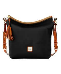 Look at this Black & Brown Small Dixon Leather Hobo on #zulily today!