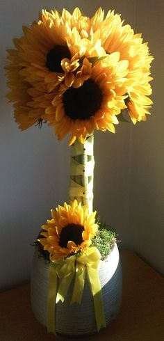 simple sunflower topiary