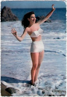 . #vintage #1950s #woman #summer #beach