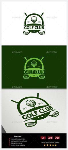 Golf Club Logo Template #design Download: http://graphicriver.net/item/golf-club-logo/10219178?ref=ksioks