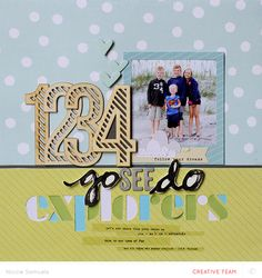 #papercraft #scrapbook #layout.  @Studio_Calico's NEW Wanderlust collection - by Nicole Samuels