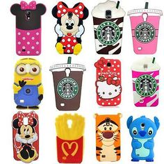 3D Cute Cartoon Soft Silicone Back Cover Case For Samsung Galaxy S4 Mini S5 Mini in Cell Phones & Accessories, Cell Phone Accessories, Cases, Covers & Skins | eBay