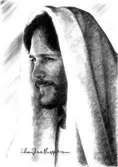 JC07 - Jesus Christ Pencil Sketch Art