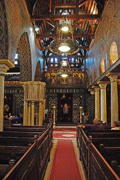 Sanctuary and Iconostasis Orthodox Church Cairo Egypt