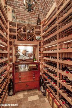 Wine room with humidor