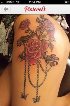 Feminine tattoo.........love that!