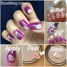 nail art water decal #nailart #nails