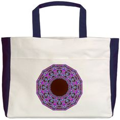 In The Pink Colorfoil Bandanna Kaleido Beach Tote from Jan4insight Designs on Cafepress