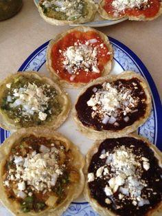 Picadas veracruzanas, platillo tradicional de Veracruz, Mexico Como las que me hace mi mama mm:)