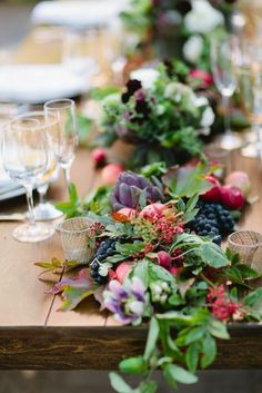 Farm to Table Inspired Shoot, flowers, greenery and purple artichokes make this special!