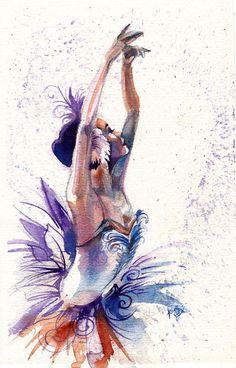 Original Watercolor Christmas Ballerina from by SimplyArtByKristin, $ ...