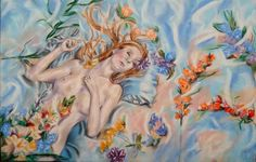 Buy Flower nymph, Pastel Drawing by Anna  Sasim on Artfinder. Discover original nude art for sale, paintings, prints, independent artists. Soft pastel art on Pastelmat paper,  woman drawing, woman painting.