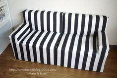 新作ソファ♪一番はじめに作ったソファが少し小さめだったので、もう少し大きいソファ...