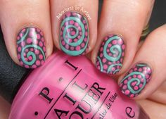 Swirl Nail Art With OPI Nordic Collection! - Adventures In Acetone