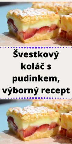 Sweet Desserts, Easy Desserts, Sweet Recipes, Easy Dinner Recipes, Easy Meals, A Food, Food And Drink, Czech Recipes, Pavlova
