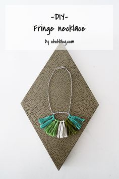 How to make a fringe necklace | Ohoh Blog - diy and crafts