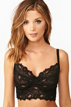 Dahlia Lace Bralette - wear underneath sheer tops, low cut dresses, etc.