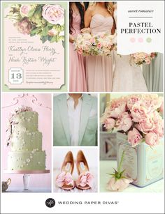 For a sweet and romantic wedding theme, pair shades of blush, pale pink, and seafoam for pastel perfection. For your flowers, lush garden roses are the ideal fit.