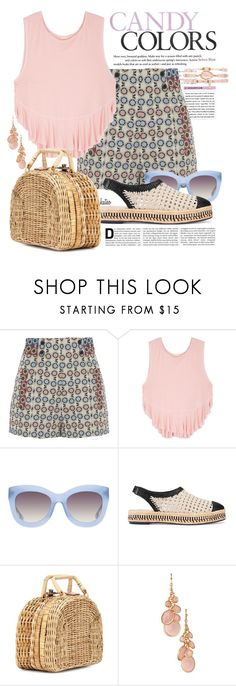 """""""Cotton Candy"""" by kateo ❤ liked on Polyvore featuring Anna Sui, Free People, Alice + Olivia, Tory Burch, Kayu, Avon, Ettika and 6785"""