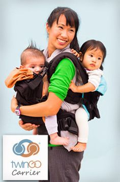 a2cbdcefb02 The TwinGo Carrier - an amazing twin baby carrier. You can use it for tandem