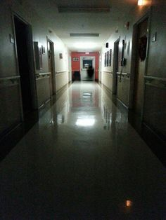 This photo was taken by a resident of the Nursing Home that my Mom works in. Prior to the photo being taken, members of the staff and other residents heard the sounds of a door opening and closing along with the appearance of a call light turning on and off, yet nobody was in the room. From what I have been told this picture had been taken roughly 15 minutes after a patient in the facility had passed on...