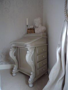 Chicinteriorsoflondon.co.uk : Davenport style desk transformed from dark wood.