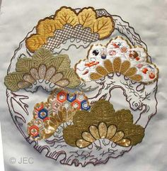 Japanese embroidery advanced piece.
