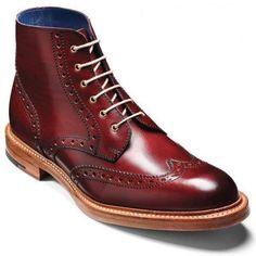 Barker Boots – Butcher Cherry Calf – Country Brogue Boot