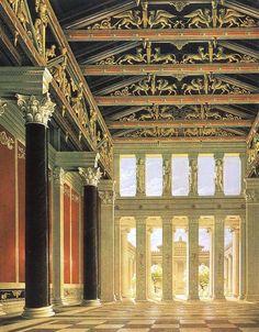 Schinkel. Proyecto de Palacio Real en la Acrópolis de Atenas
