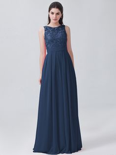 Pin to Win a Wedding Gown or 5 Bridesmaid Dresses! Simply pin your favorite dresses on www.forherandforhim.com to join the contest! | Lace and Chiffon U-back Dress $164.99