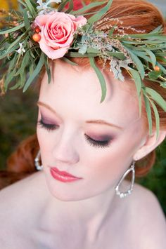 Beautiful smokey eyes! See more on #SMP here http://www.StyleMePretty.com/little-black-book-blog/2014/04/18/bohemian-chic-wedding-ideas/ Photography: SamanthaRandall.com