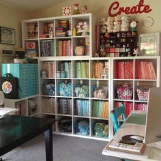 New craft room organization ideas awesome fabric storage Ideas Sewing Room Design, Sewing Room Storage, Sewing Spaces, Sewing Room Organization, My Sewing Room, Craft Room Storage, Fabric Storage, Sewing Rooms, Storage Ideas