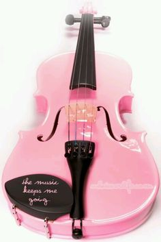 pink violin - Pink and Girly Pinned by Van xo Pink And Green, Pink Purple, Hot Pink, Pink Black, Blush Pink, Pink Violin, Pink Guitar, Black Violin, Pink Piano