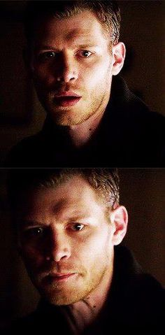 Klaus' face when he realizes Caroline is about 2 seconds away from really dying