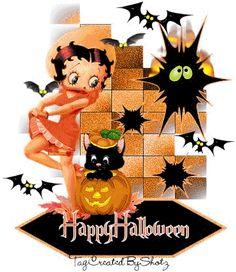 Animated gif of Betty Boop Halloween and free images ~ Gifmania