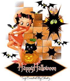 betty boop gif   Betty Boop Halloween Gif