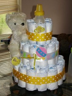 Baby shower diaper cake