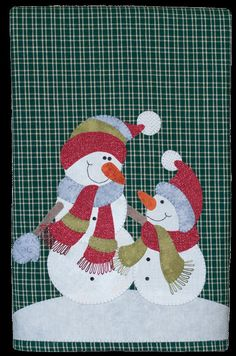 NEW Snowman and Son Applique Towel Kit by The Wooden Bear