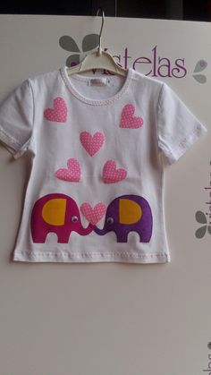 Embroidery Patterns Free, Sewing Appliques, Cute Tshirts, Kids Shirts, Diy Summer Clothes, Diy Clothes Refashion, Diy Clothes Videos, Embroidery Fashion, Applique Designs