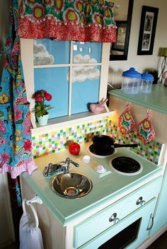 play kitchen- I really love this one! Gives a lot of good advice for details as well