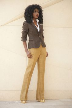 Elbow Patch Blazer x Trousers