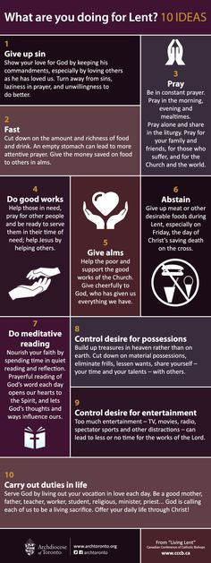 "archtoronto: ""Still not sure what you're doing for Lent? Here are 10 ideas for you to consider while preparing for Easter. """