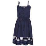 Emerson Micro Spot Dress - Navy