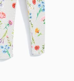 PRINTED PIQUÉ TROUSERS - Available in more colours
