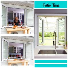 Connect your indoor & outdoor spaces with this pass-over window, that allows you to be working away in the kitchen, but still be a part of the party!