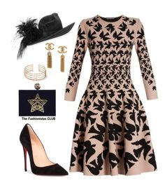 The Fashionistas CLUB by kemiakinajayi on Polyvore featuring polyvore, fashion, style, Alexander McQueen, Christian Louboutin, Philip Treacy and clothing